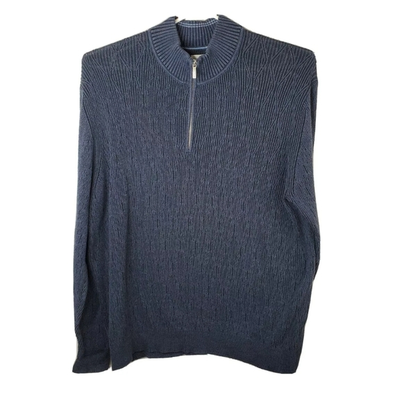 Tommy Bahama Other - Tommy Bahama Mens 2XL Blue 1/4 Zip Knit Sweater